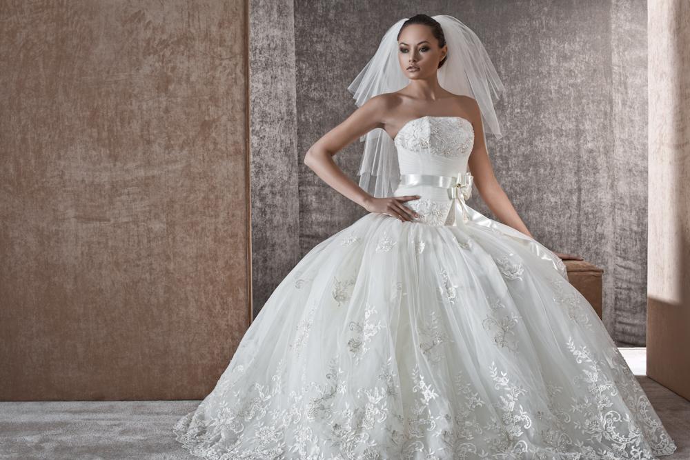 Классика белое пышное платье