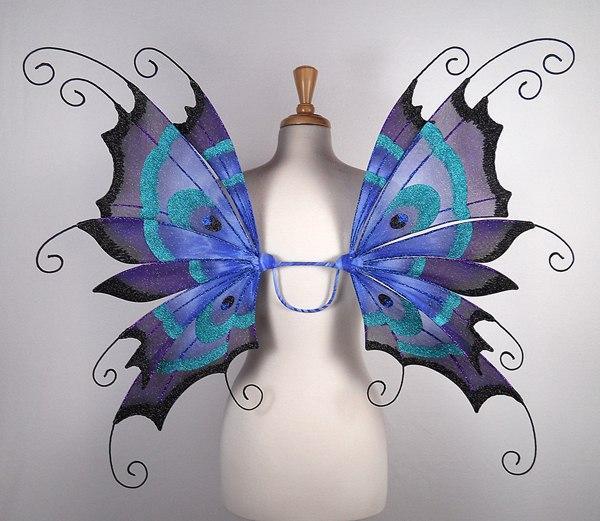 Как сделать крылья своими руками бабочки