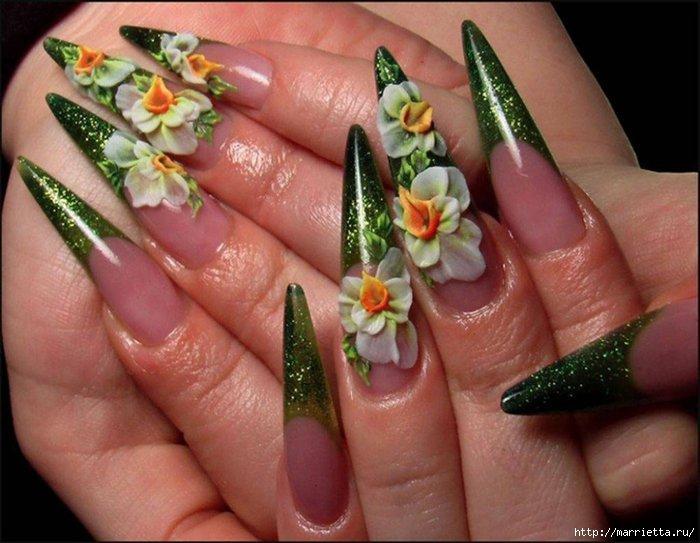 Фото нарощенных ногтей с акрила