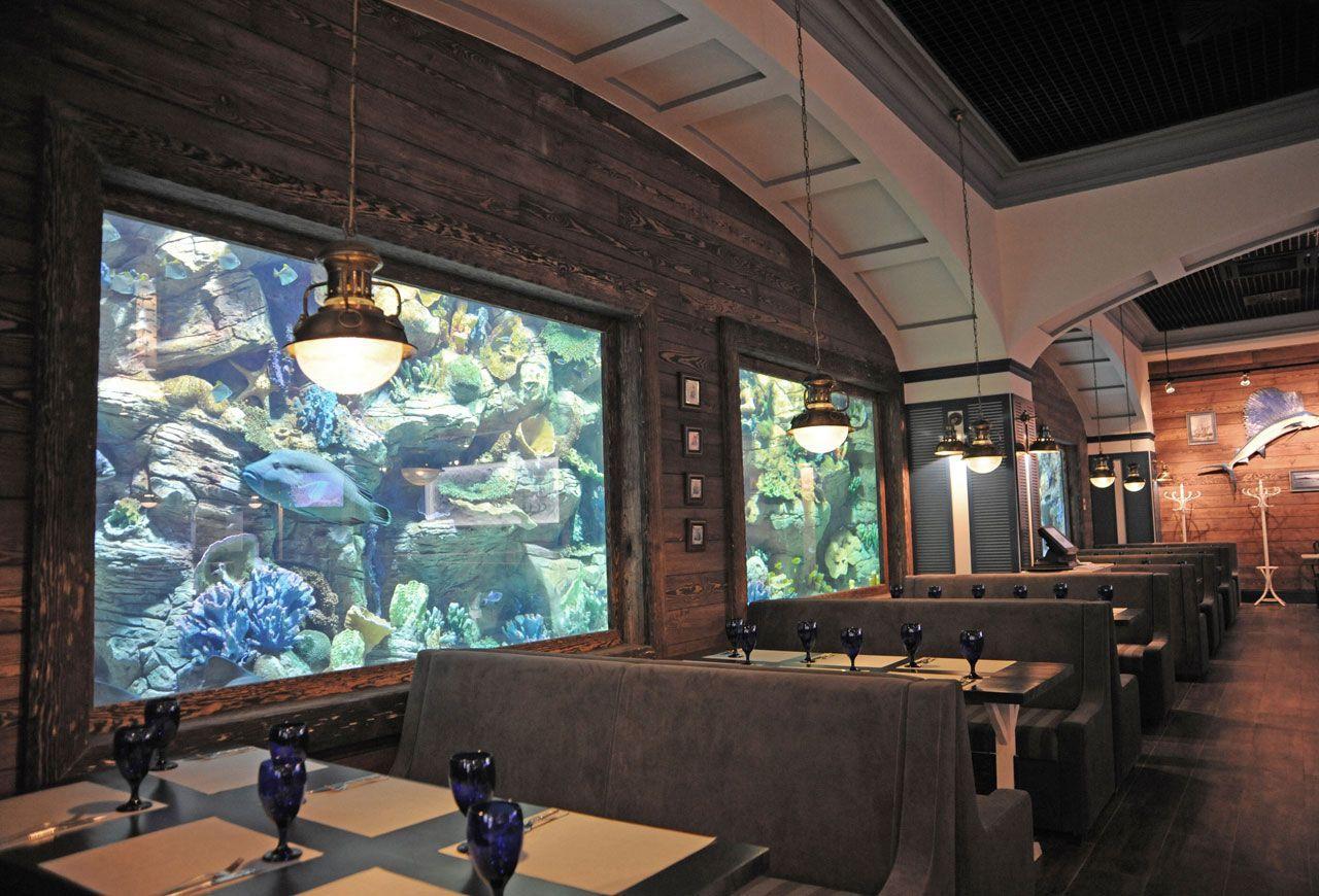 Интерьер рыбного ресторана фото