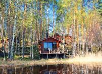 Аренда коттеджа для компании до 8 человек с сауной и причалом на закрытой частной территории в Финляндии на берегу Саймы. Скидка до 50%